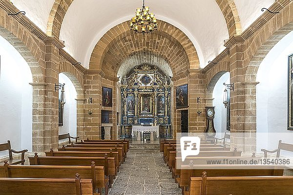 Interior of the Chapel Ermita de la Victoria  Victoria Peninsula  Majorca  Balearic Islands  Spain  Europe