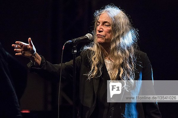 The American punk and rock musician  singer-songwriter  Patti Smith live at the 25th Blue Balls Festival in Lucerne  Switzerland  Europe