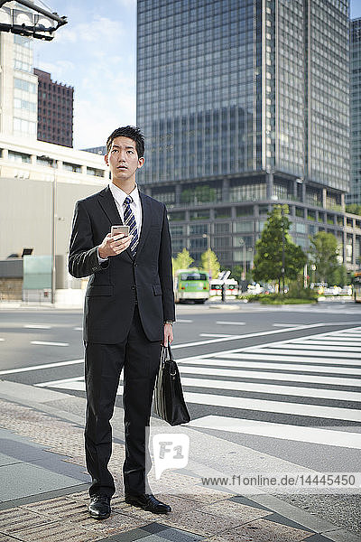 Young Japanese businessman