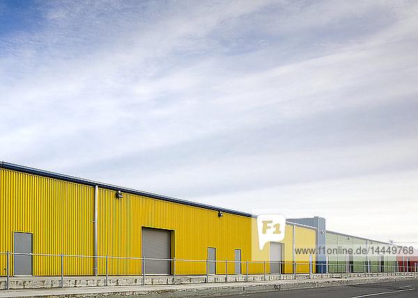 Colorful Warehouses  Seattle  Washington