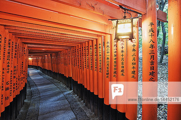 Orange Posts mit asiatischem Text