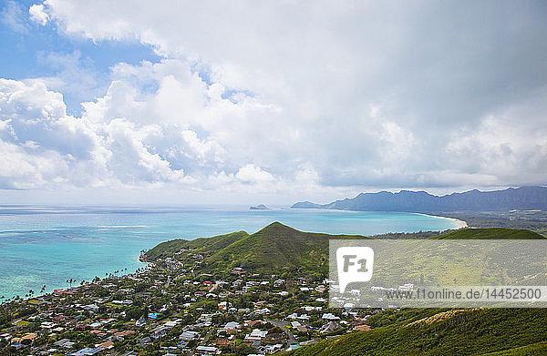 View of Kailua  O'ahu  Hawaii