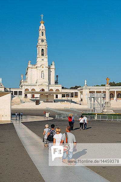 Religious pilgrims at the Sanctuary of Fatima (Basilica of Our Lady of Fatima)  Portugal