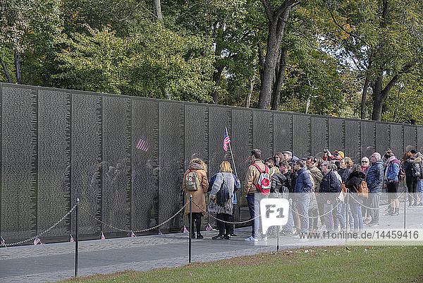 People at the Wall  Vietnam Veterans Memorial  Washington D.C.  United States of America  North America