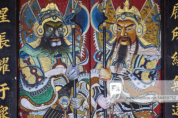 Cheng Hoon Teng temple  Chinatown  Malacca  UNESCO World Heritage Site  Malacca State  Malaysia  Southeast Asia