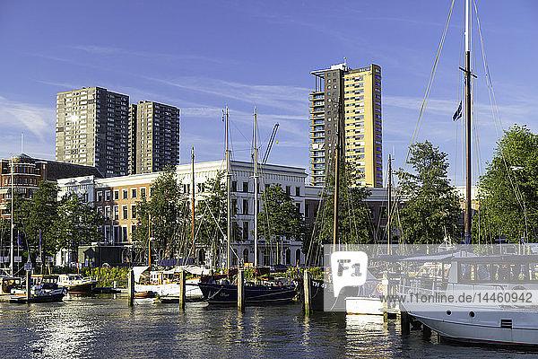 Veerhaven Marina  Rotterdam  Zuid Holland  Netherlands
