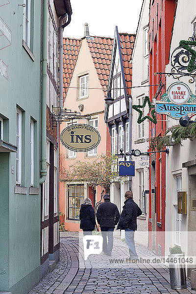 Schnoor district  Bremen  Germany