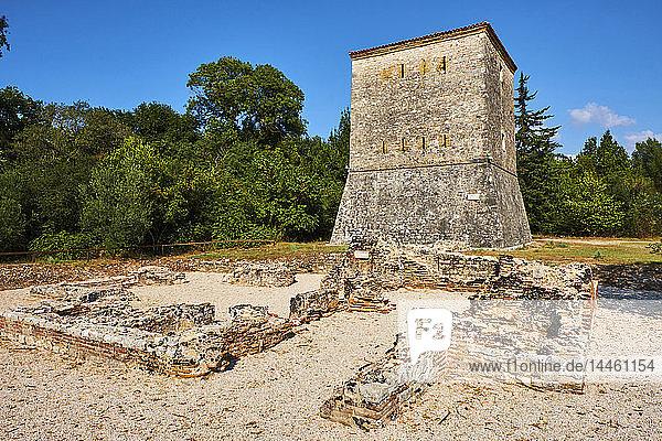 Venetian tower  Ruins of the Greek city  Butrint  UNESCO World Heritage Site  Vlore Province  Albania