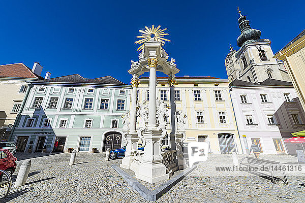 The historic center of Krems  Wachau  Austria