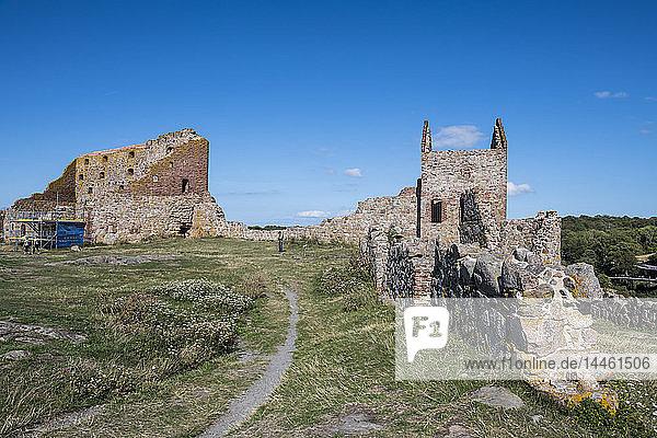 Hammershus Castle ruins  Bornholm  Denmark  Scandinavia