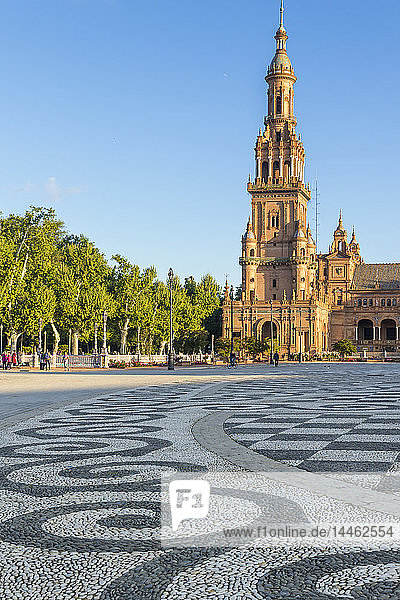 Northern Tower at Plaza de Espana  Seville  Andalusia  Spain