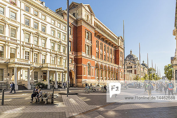 Exhibition Road in Kensington  where many museums are based  London  England  United Kingdom