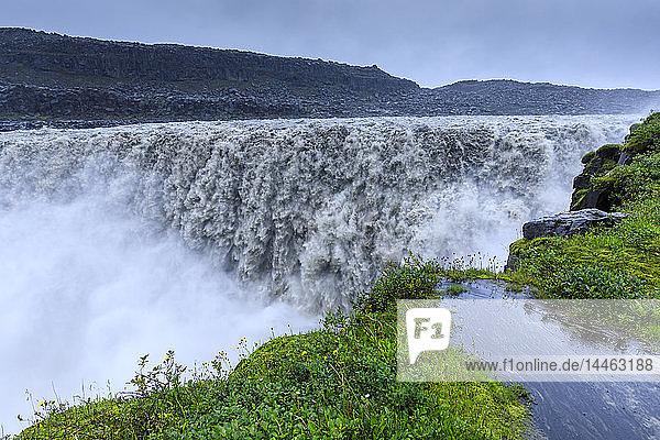 Dettifoss waterfall in Vatnajokull National Park  Iceland