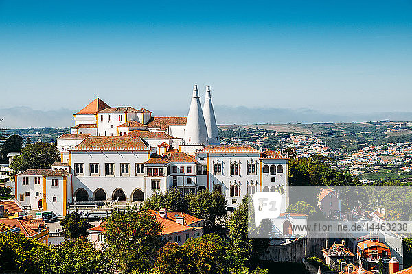 The National Palace of Sintra  inhabited for nearly eight centuries by the Portuguese monarchy and its court  Sintra  UNESCO World Heritage Site  Portugal