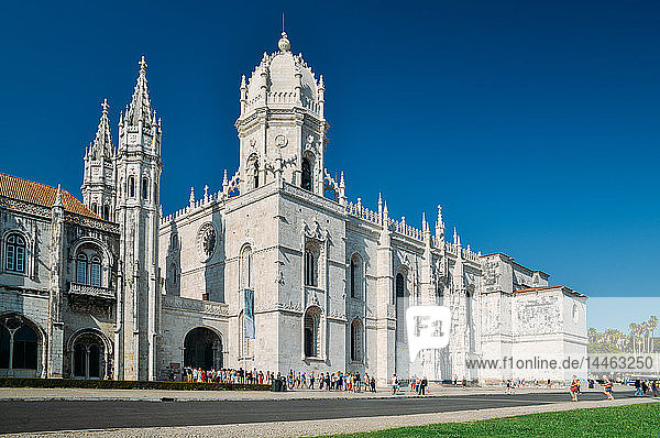 The Jeronimos Monastery (Hieronymites Monastery) a former monastery in Belem  UNESCO World Heritage Site  Belem  Lisbon Portugal