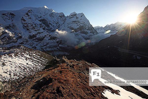 Mountain landscape at 5000 metres  high Khumbu  Himalayas  Nepal