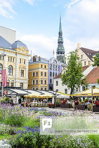 Livu Square  Old Town  UNESCO World Heritage Site  Riga  Latvia