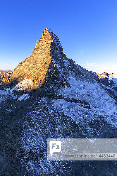 Matterhorn during sunrise in Zermatt  Switzerland