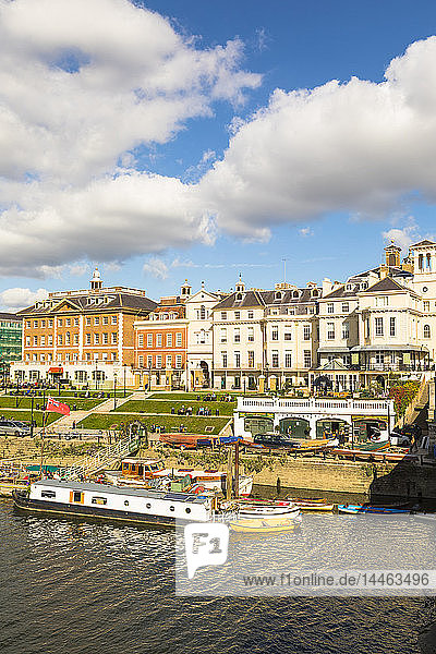Buildings by river in Richmond  England