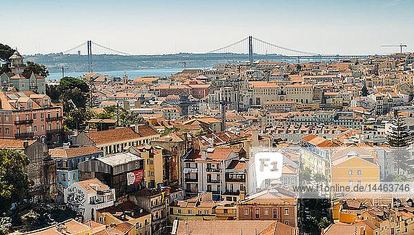 Panoramic viewpoint Sophia de Mello Breyner Andresen (Miradouro da Graca)  Lisbon  Portugal