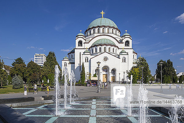 St. Sava Temple  the largest Orthodox Cathedral in the world  Belgrade  Serbia