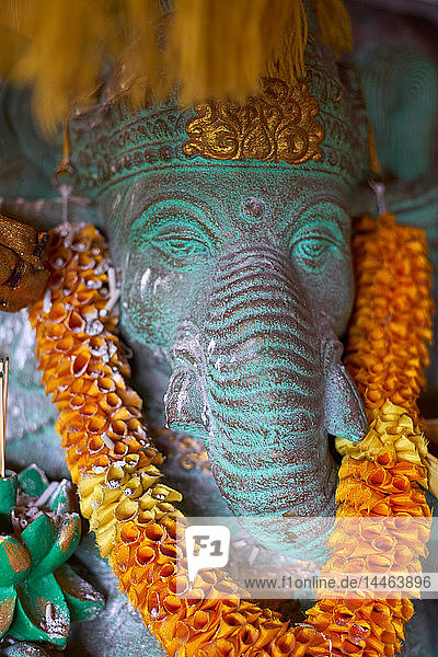 Decorated Ganesh statue in Ubud  Bali  Indonesia  Southeast Asia