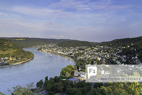 View of River Rhine  Boppard  Rhineland-Palatinate  Germany