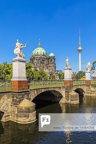 Schlossbrucke bridge by Berlin Cathedral in Berlin  Germany