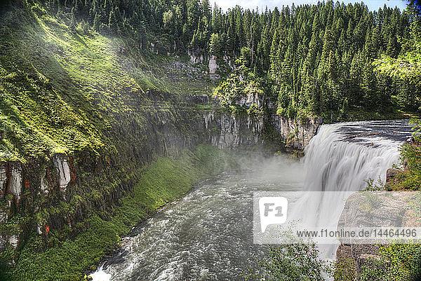 Upper Mesa Falls  near Island Park  Idaho  United States of America  North America