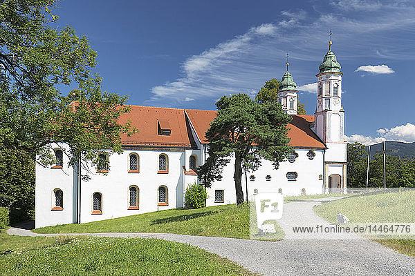 Heilig-Kreuz-Kirche church  Kalvarienberg (Calvary Hill)  Bad Toelz  Upper Bavaria  Bavaria  Germany  Europe