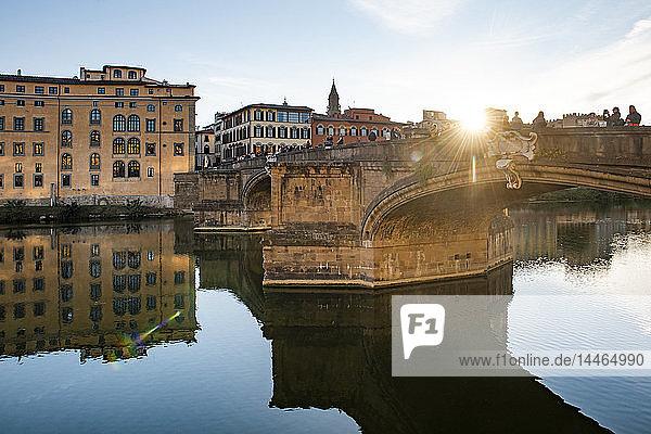 St. Trinity Bridge  Florence  Tuscany  Italy  Europe