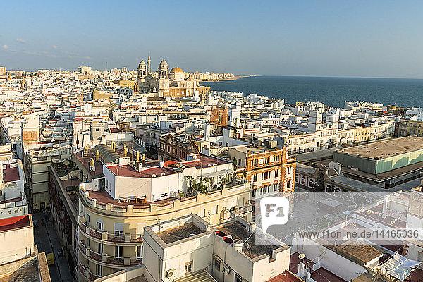 Cityscape from Torre Tavira in Cadiz  Spain