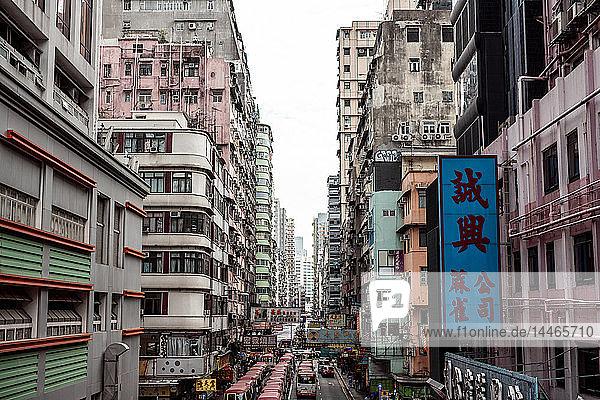 Hong Kong  Mong Kok  Goldfish Street  street canyon