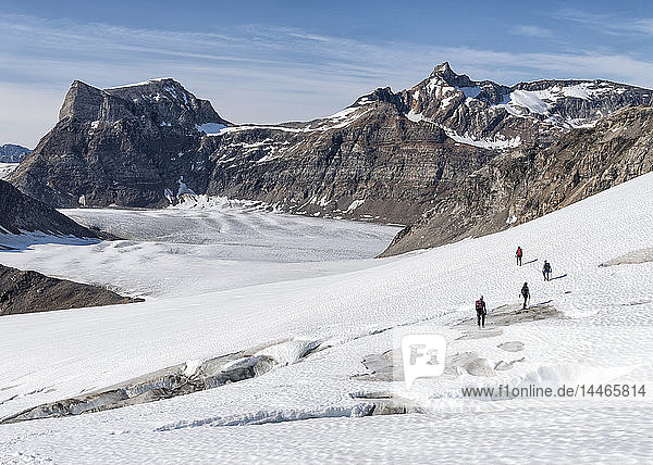 Greenland  Sermersooq  Kulusuk  Schweizerland Alps  group of people walking in snow