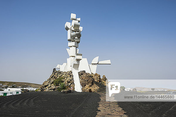 Spain  Canary Islands  Lanzarote  San Bartolome  Mozaga  Monumento al Campesino