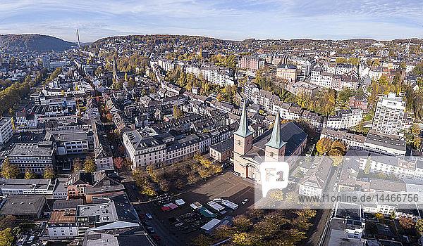 Deutschland  Wuppertal  Elberfeld  Luftaufnahme des Laurentiusplatzes