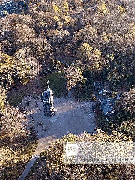 Deutschland  Wuppertal  Luftaufnahme des Elise-Turms im Herbst
