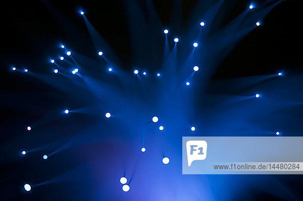 Blaue Faseroptik