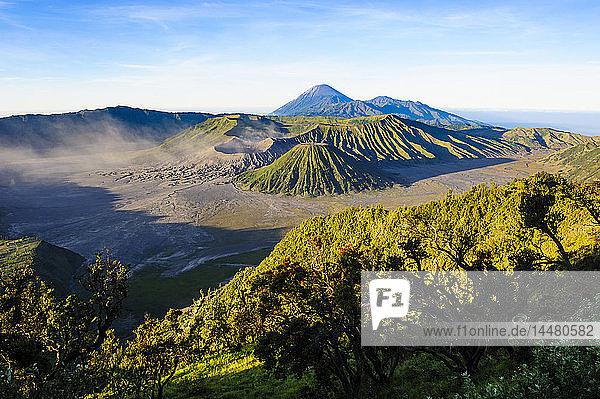 Indonesia  Java  Bromo Tengger Semeru National Park  Mount Bromo volcanic crater at sunrise