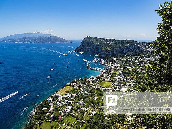 Italy  Campania  Gulf of Naples  View to Capri