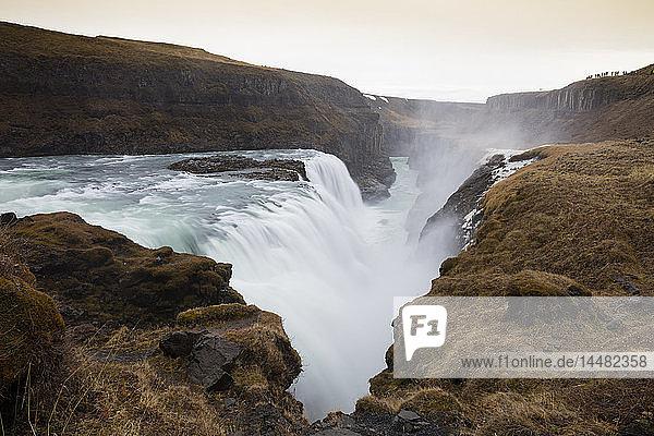 Iceland  Golden Circle  Gullfoss Waterfall