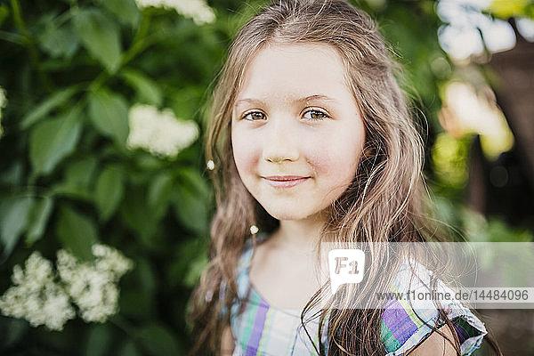 Portrait smiling  confident girl