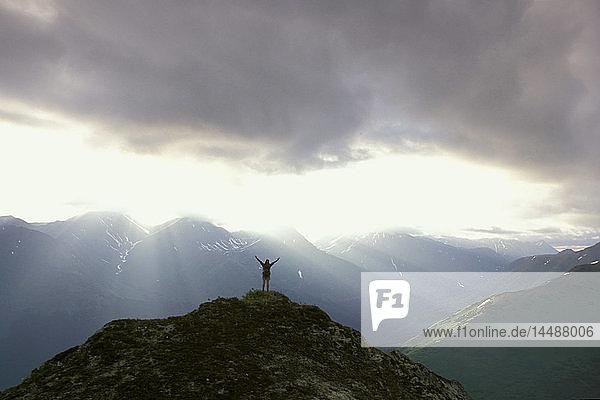 Woman w/Arms Outstreched Hiking Bird Point SC AK