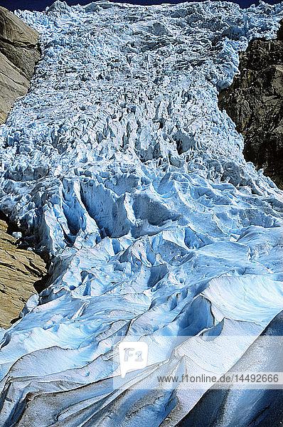 Glacier in Briksdalsbreen