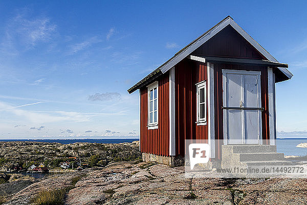 Small house on coast  Fjallbacka  Bohuslan  Sweden