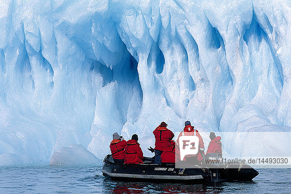 Tourist at a iceberg