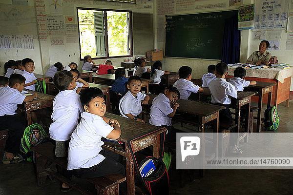 Elementary school. Schoolchildren in classroom.