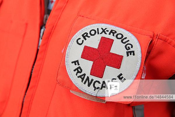 French Red Cross. Volunteer.