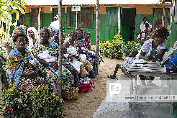 Reportage in a health center in Lome  Togo. Vaccinations.