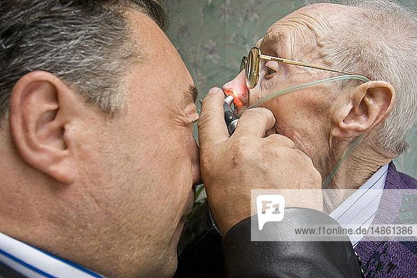 EAR NOSE &THROAT  ELDERLY PERSON